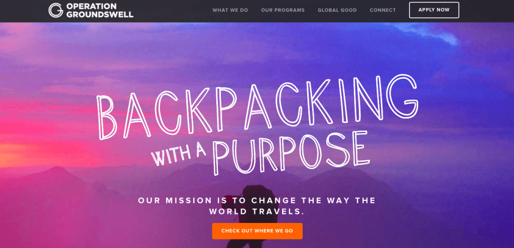 Operation Groundswell nonprofit websites