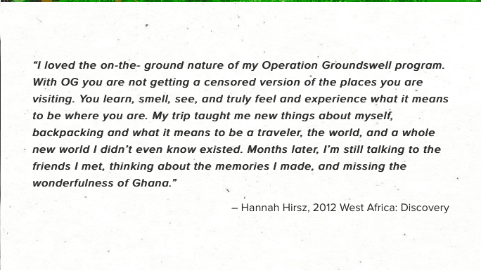 Operation Groundswell nonprofit websites Testimonial