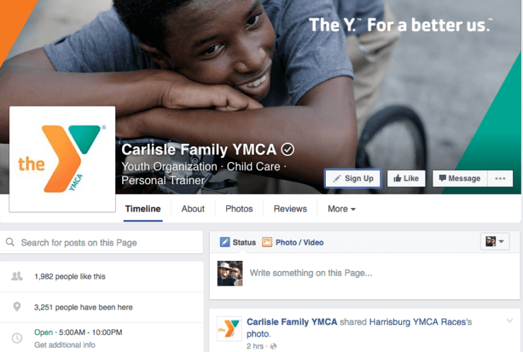 Carlisle Family YMCA Facebook