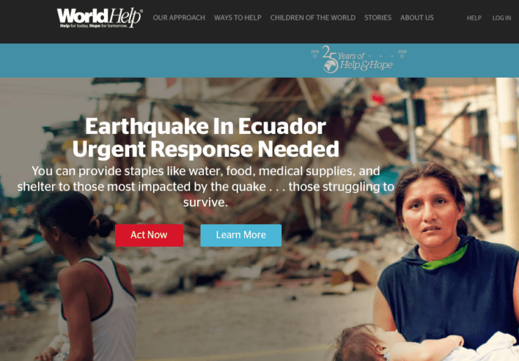 World Help Priorities nonprofit websites