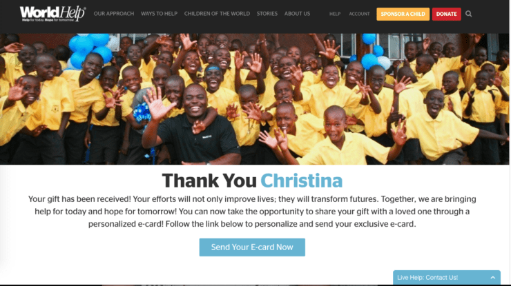 optimize your donation thank you page