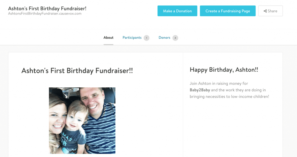 Personal Fundraiser Story