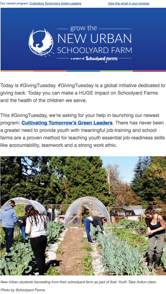 schoolyard farms campaign launch email