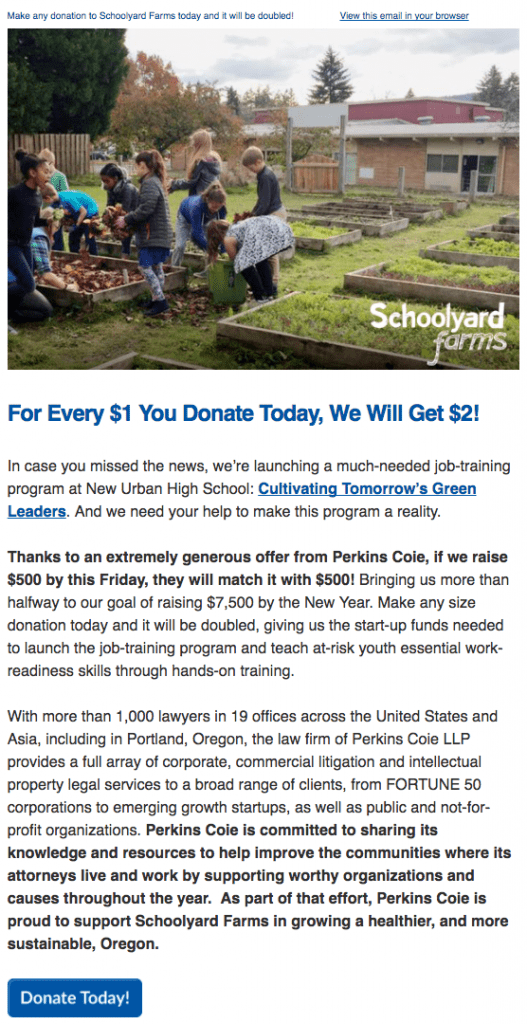 schoolyard farms matching boost donations