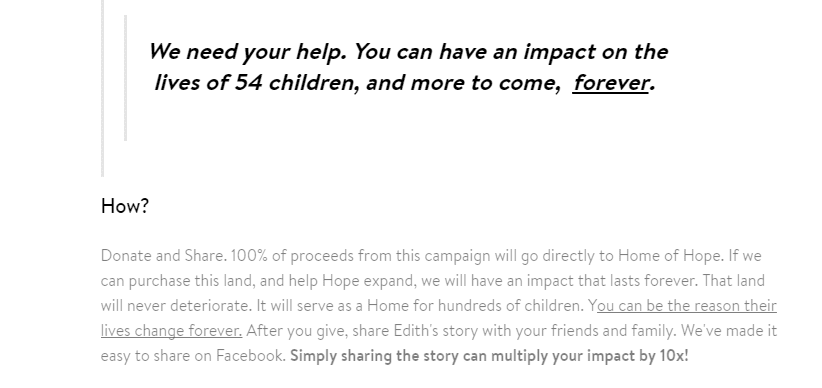 Show your nonprofit's impact on real lives.