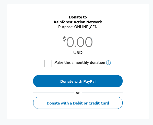donation page