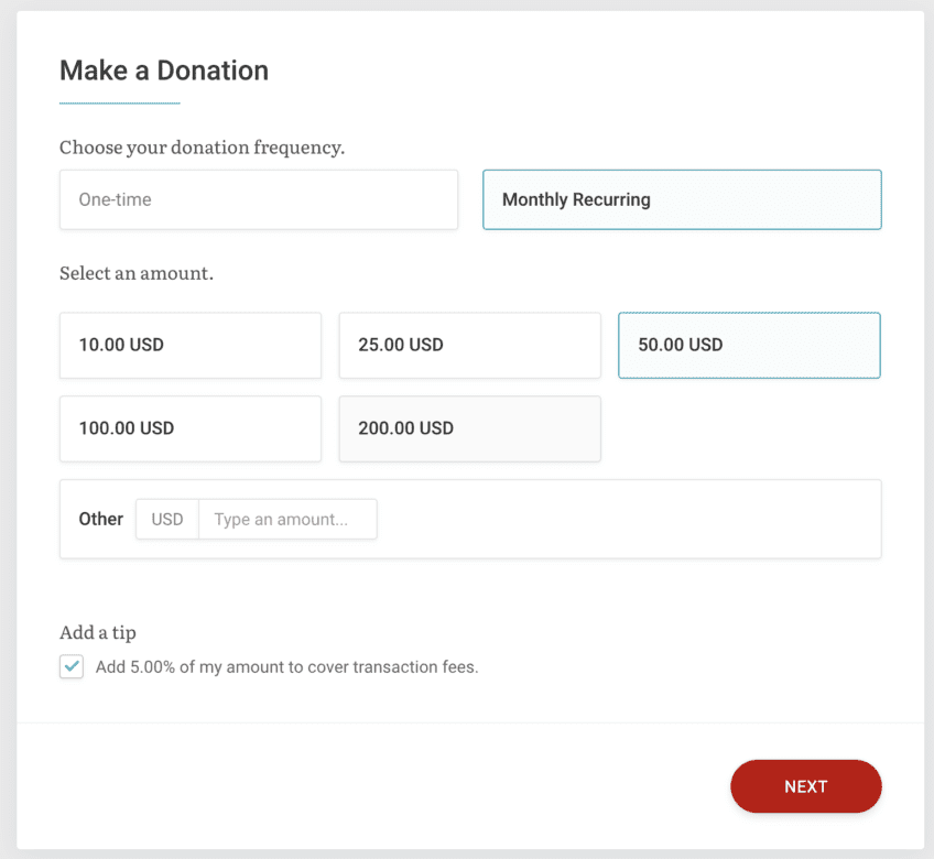 donation-page-best-practices-example