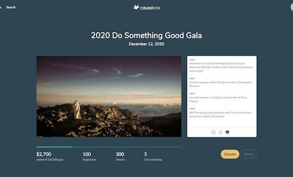 Sneak Preview: The All-New Virtual Fundraising-Optimized Pages On CauseVox