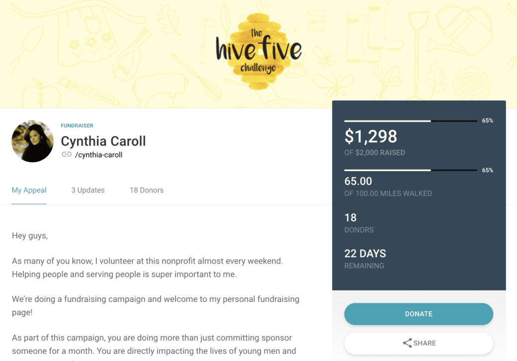 activity-metric-fundraiser-page