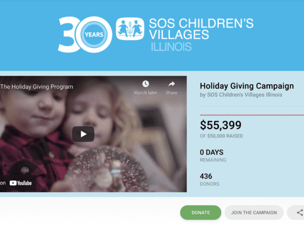 Customer Story: SOS Children's Villages Raises Over $55k Through Their Virtual Toy Drive